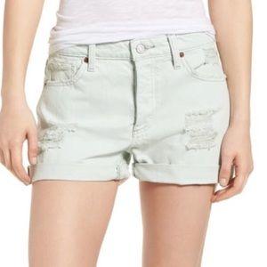 LUCKY BRAND Woman's Cutoff Frayed Boyfriend Shorts